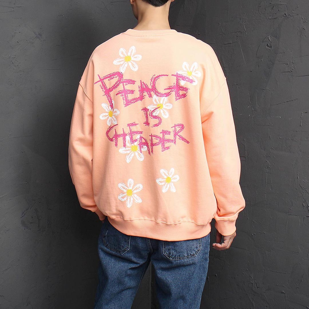 Oversized Fit Flower Sweatshirt 1389