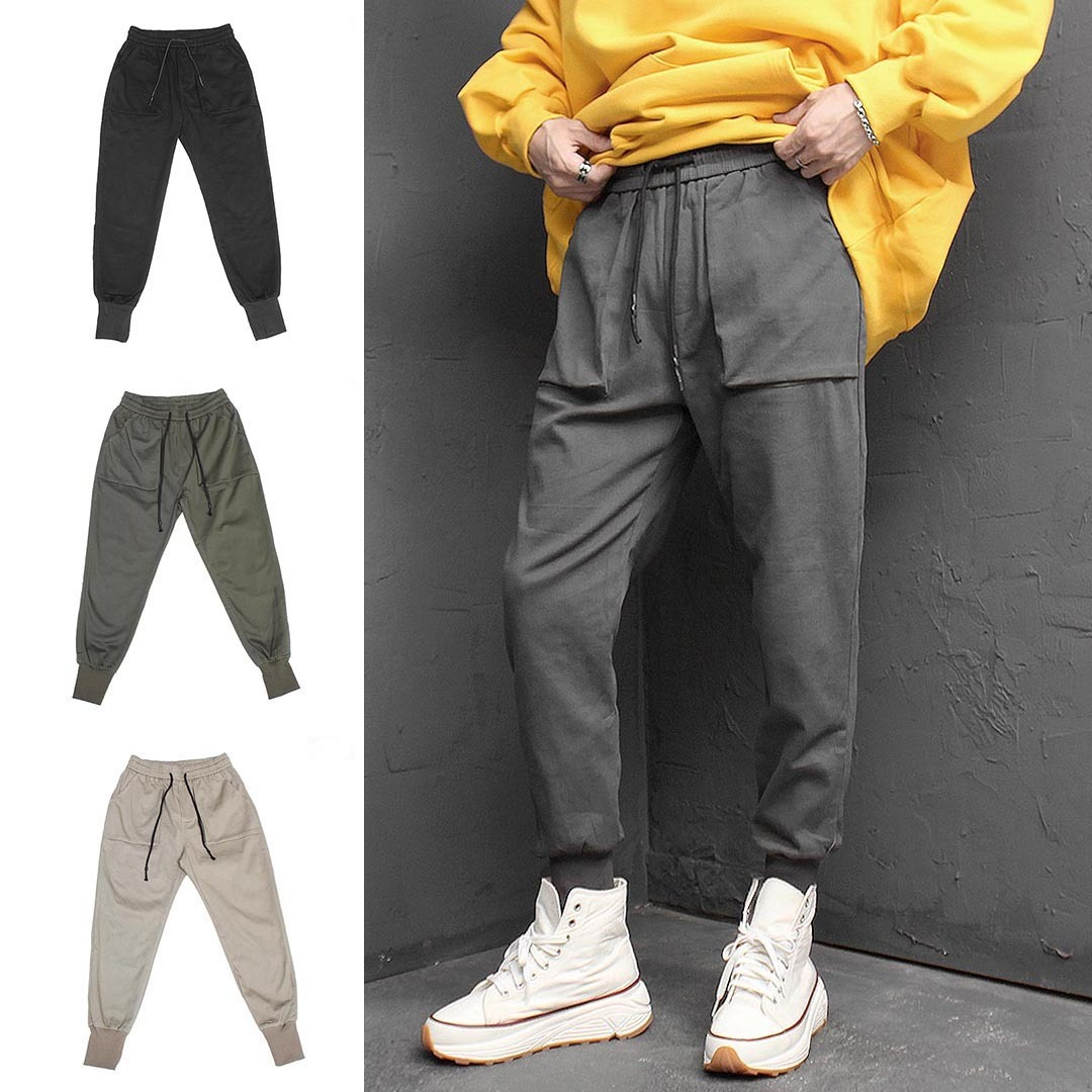 Square Pocket Slim Jogger Pants 1421