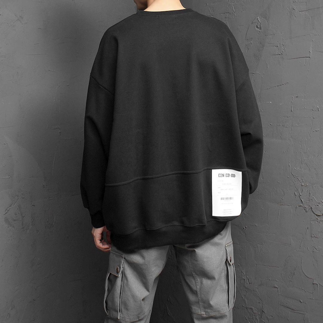 Back Printing Oversized Fit Sweatshirt 1480