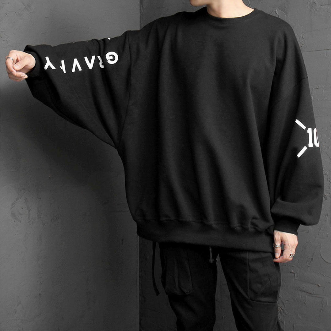Oversized Fit Printing Sweatshirt 1668