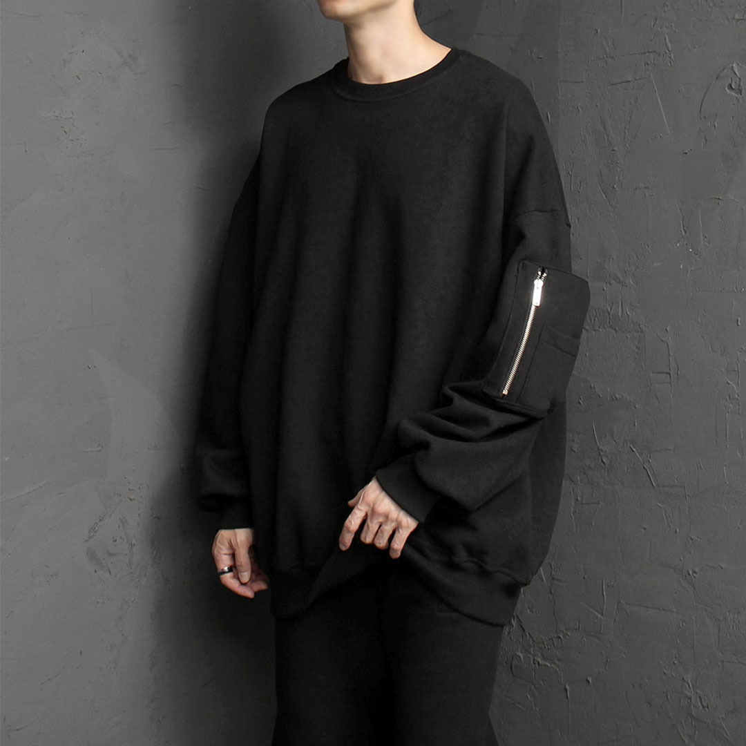 Oversized Fit Zipper Pocket Sweatshirt 1683