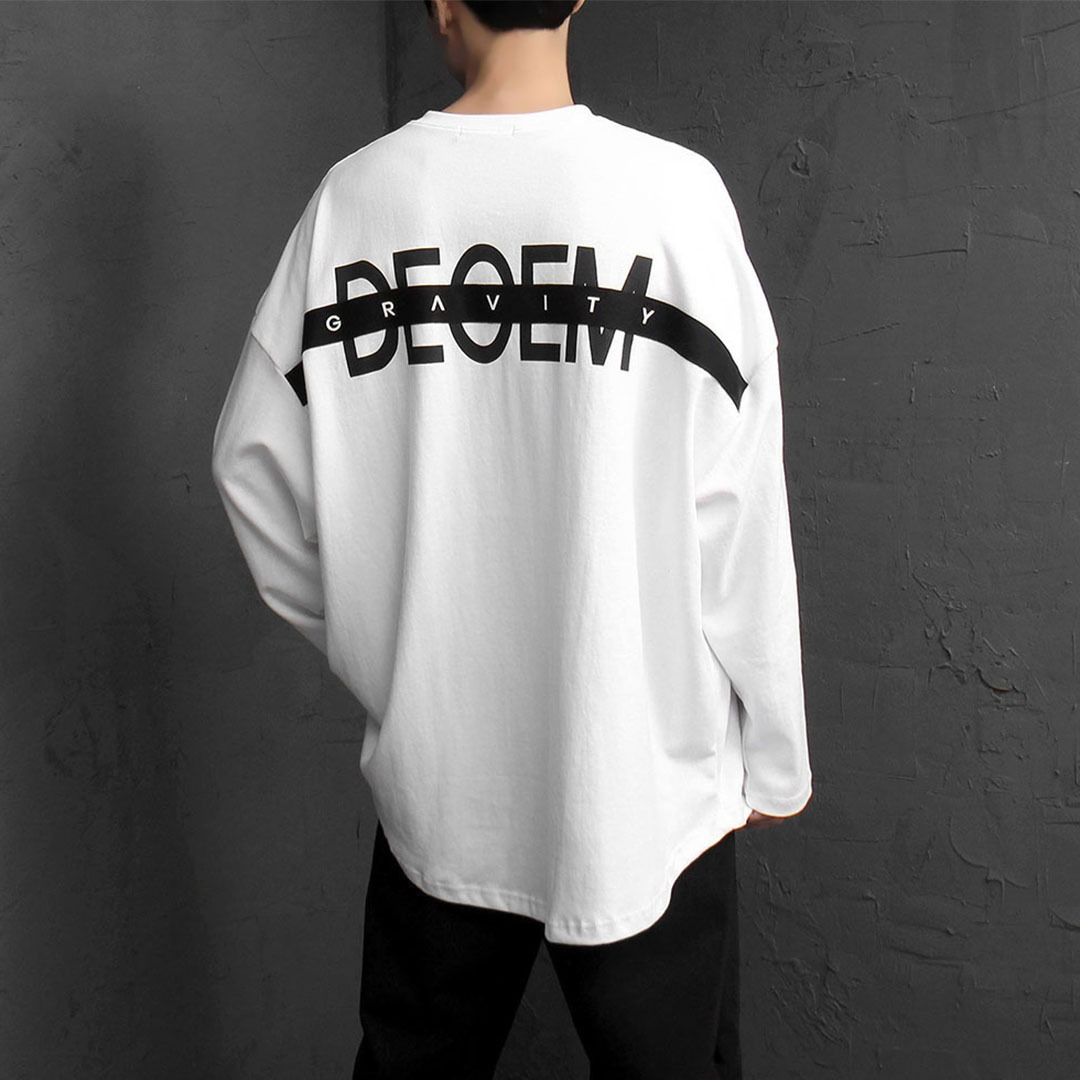 Back Printing Oversized Fit Long Sleeve Tee 1802