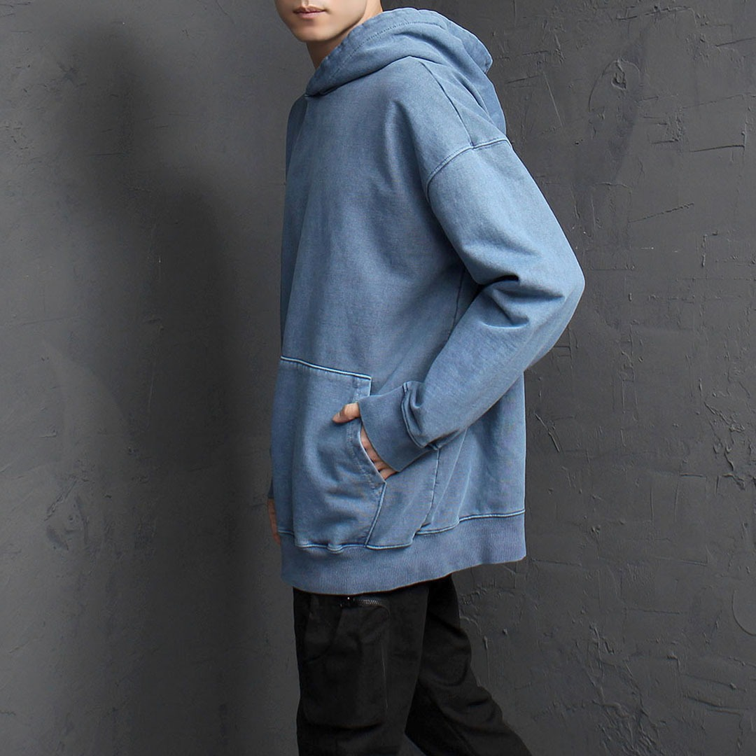 Loose Fit Vintage Washed Hoodie 1774