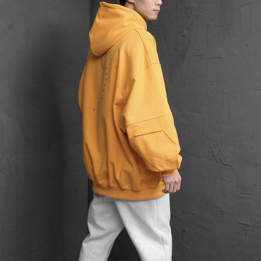Oversized Fit Heavy Cotton Patch Hoodie 1772
