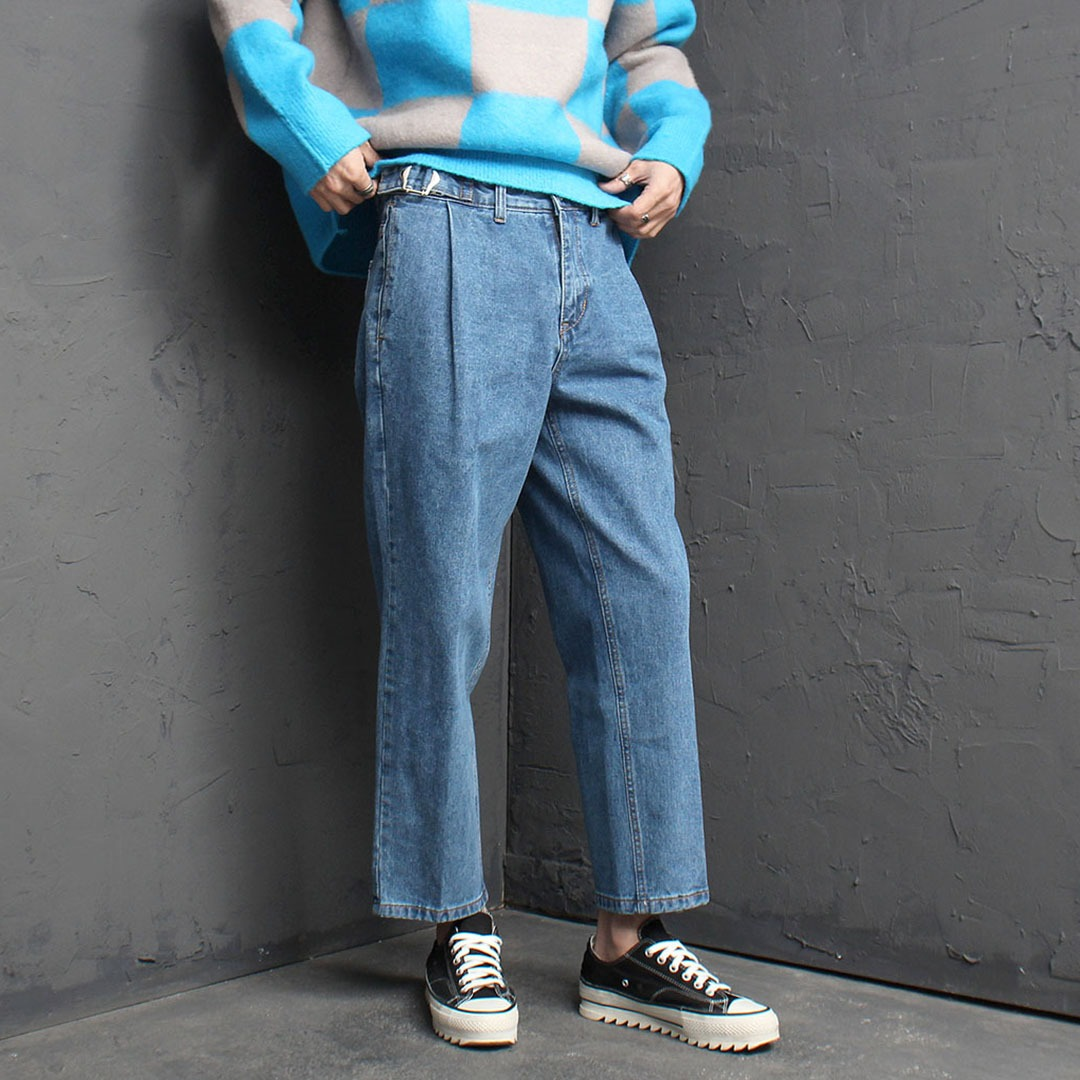 Vintage Wide Semi Baggy Denim Pants 1767