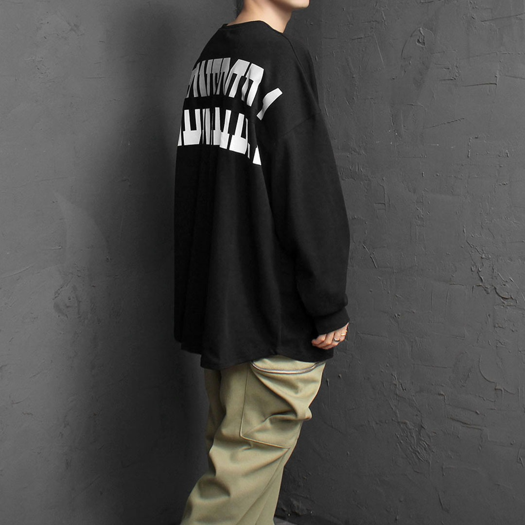 Oversized Fit Back Webbing Printing Tee 1880