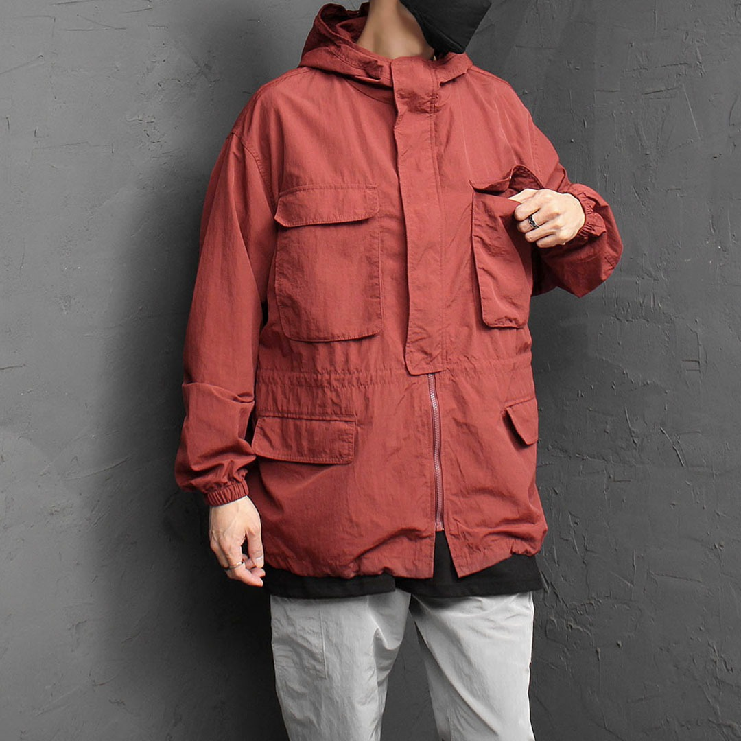 Oversized Fit Wind Stopper Hood Jacket 1831