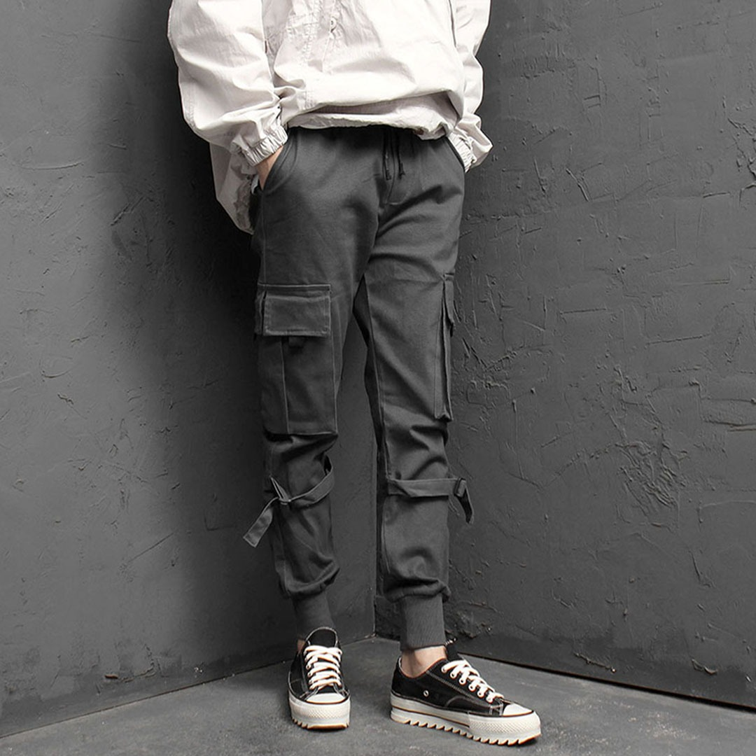 Strap Cargo Pocket Jogger Pants 1825
