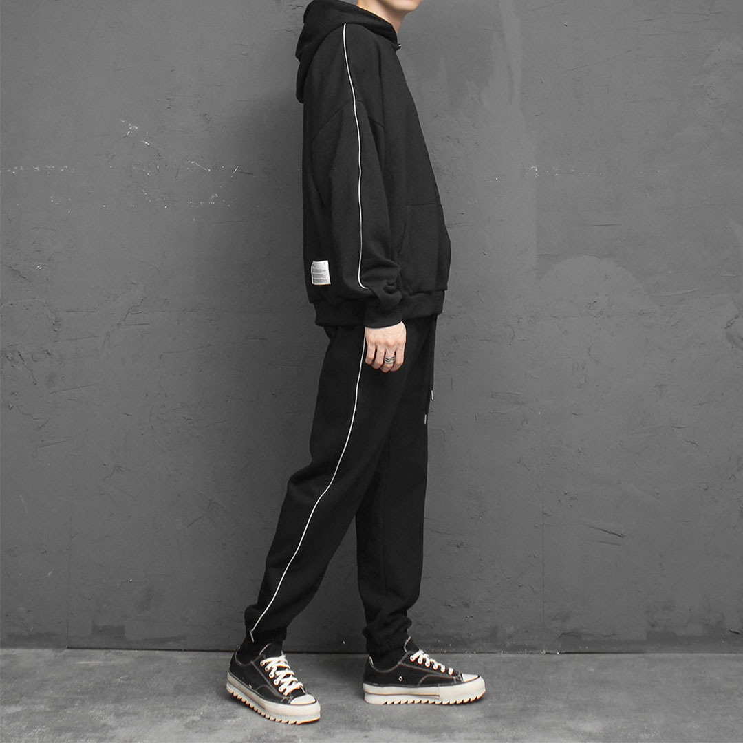 Side Line Hoodie Jogger Pants Set 1929