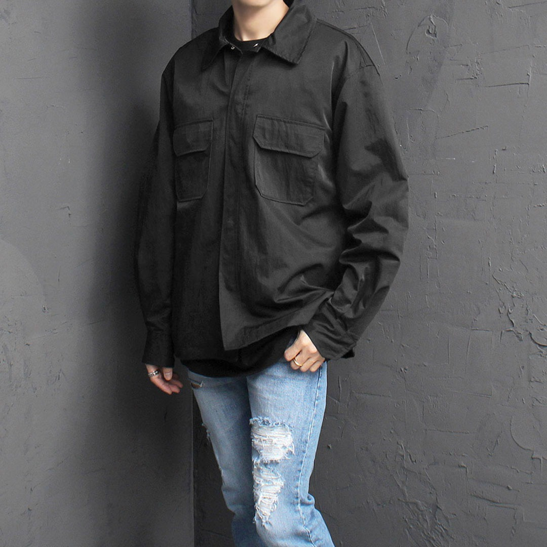 Loose Fit Water Resistant Shirt Jacket 2022