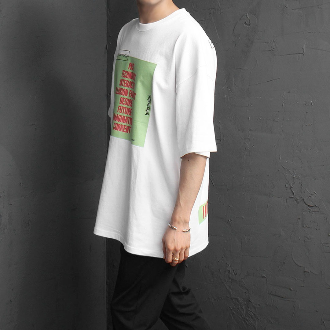 Oversized Fit Graphic Printing Short Sleeve Tee 2026
