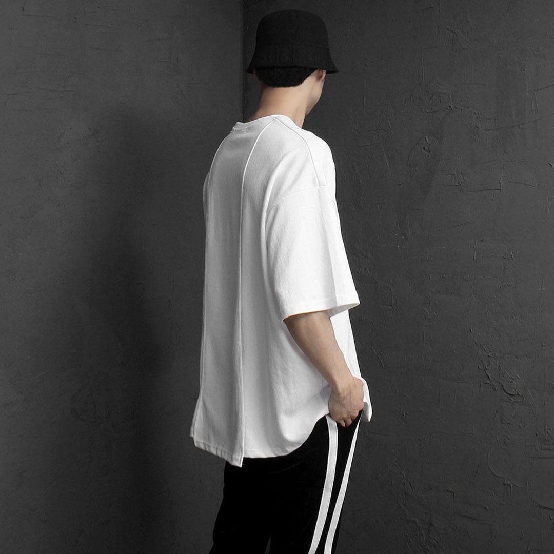 Oversized Fit Back Hem Point Boxy Tee 2093