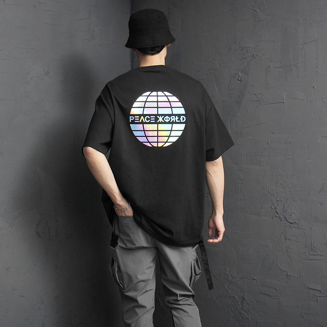 Loose Fit Hologram Short Sleeve Tee 2090