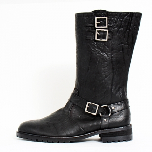 Elephant Skin Pattern High Top Long Calf Boots Ed5052