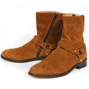Handmade High Top Belted Long Boots 5386