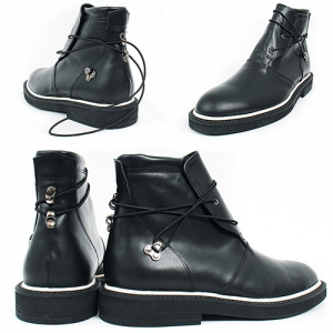 Handmade Lace Wrap Around Leather Chukka Boots 7270