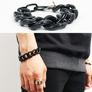 Hardcore Black Chain Bracelet 95