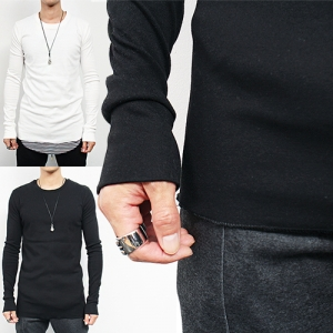 Slim Fit Over Long Hand Spandex Long Sleeve Tee