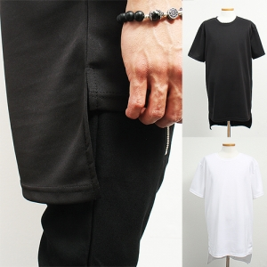 Neoprene Long Back Hem Short Sleeve T Shirt