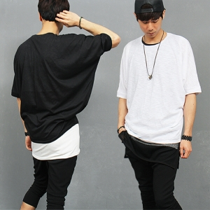 Loose Fit Half Sleeve Batwing T Shirt