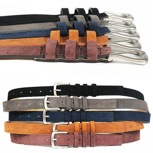Triple Closure Styling Casual Suede Leather Belts