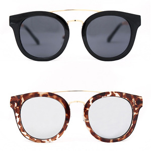 Gold Tone Temple Acetate Framed Fashion Sunglasses - 2162