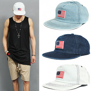 USA Flag Denim Baseball Cap