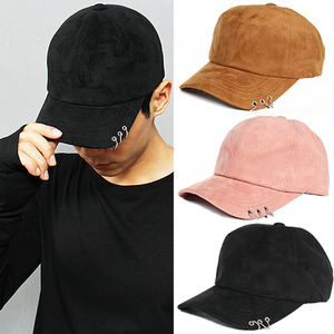 Hip Hop Hard Core Piercing Suede Cap