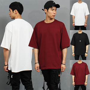 Loose Fit Embossed Corduroy Half Sleeve T Shirt