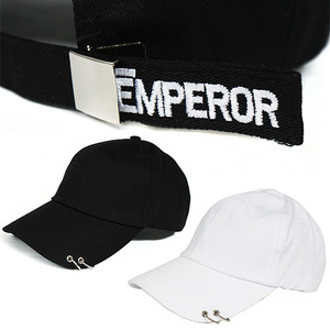 Hip Hop 2 Ring EMPEROR Logo Ball Cap
