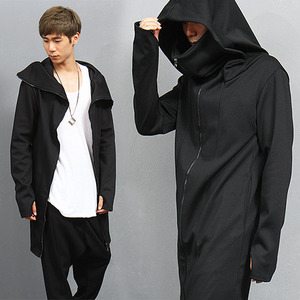 Avant garde Handwarmer Turtle Neck Long Jersey Jacket