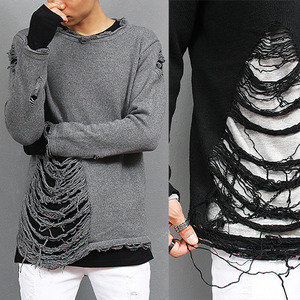 Vintage Style Destoryed Damaged Knit Jumper
