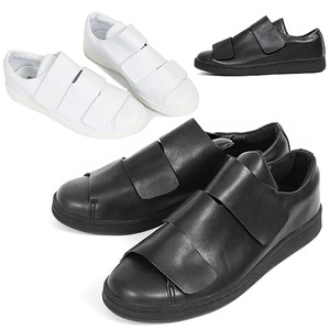 Triple Velcro Closure Faux Leather Sneakers 130