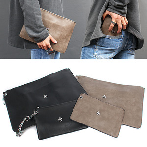Chain Double Pouch Type Messenger Clutch Bag Set
