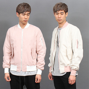 Slim Fit Light Pink Blouson Jacket 679