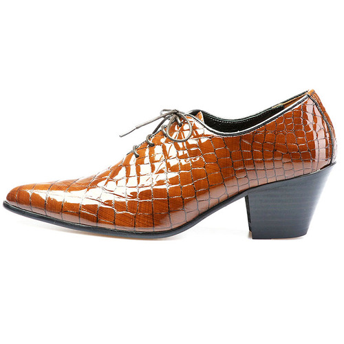 Handmade Oxfords Snake Pattern Leather 4 Colors - 4708