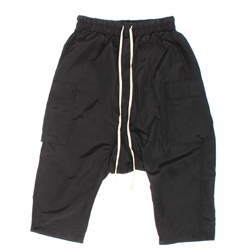 Loose Fit Drop Crotch Cargo Pocket 4/5 Sweatpants