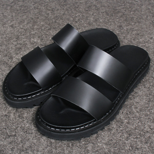 3.5 CM Heel Ripple Soles Leather Sandals 14