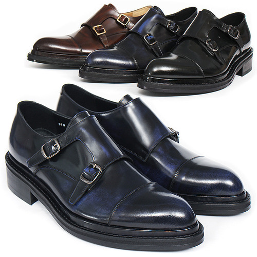 Handmade Double Monk Strap Dainite Sole Oxfords 5524
