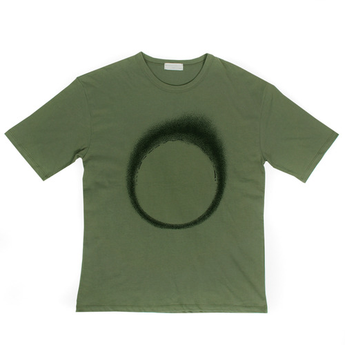 Loose Fit Circle Graphic Printing T Shirt 123