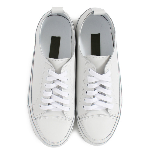 Low Top Stitch Split Leather Sneakers 852
