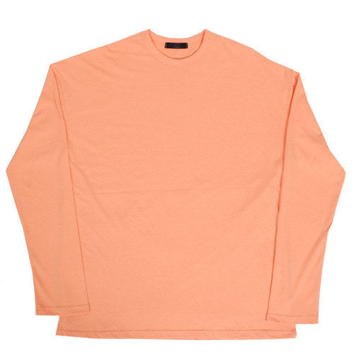 Loose Fit Split Side Over Long Sleeve Color Tee