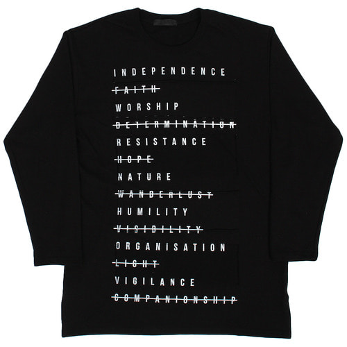 Vintage Words Printing Patched Sweatshirt