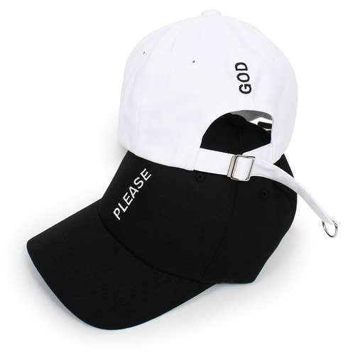 God Please Stitched D Ring Long Strap Ball Cap