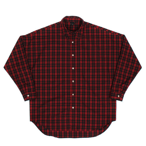 Loose Fit Checkered Pattern Boxy Shirt