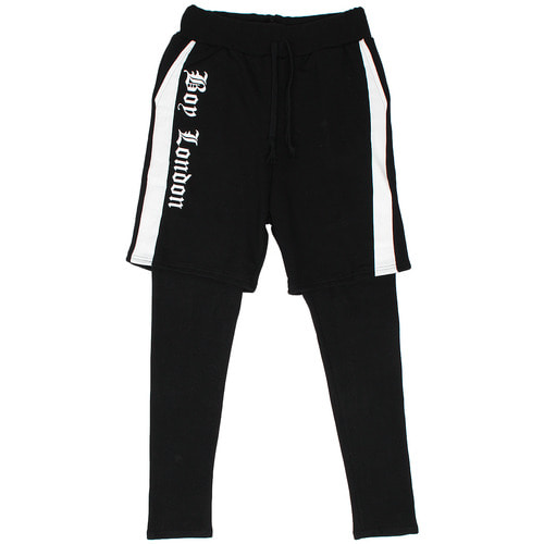 Side Logo Painting Leggings Layered Sweatpants