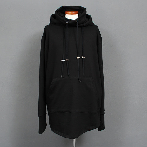 High Turtle Neck Double Layered Handwarmer Hoodie