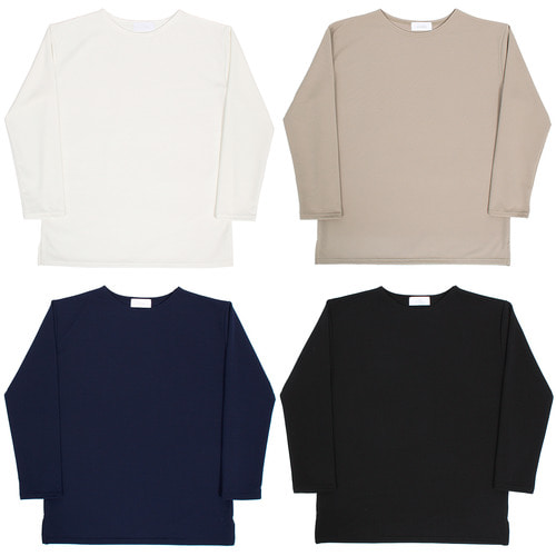 Basic Long Sleeve Split Side Tee