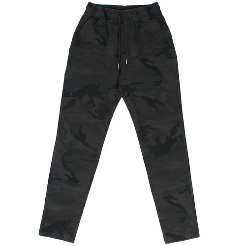 Charcoal Camouflage Waistband Slim Sweatpants 810