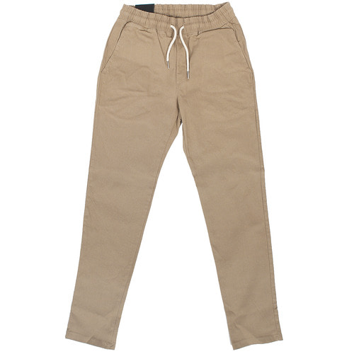 Elastic Waistband Slim Chinos Pants 815